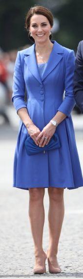 Kate Middleton Blue Catherine Walker coat