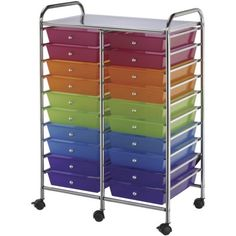 Scrapbooking Tool Organizer: Storage Cart - 20 Drawers