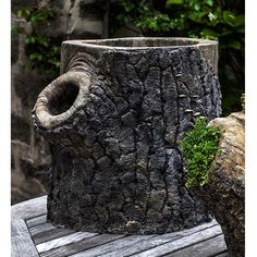 Locust Tree Stump Outdoor Garden Planter P-692