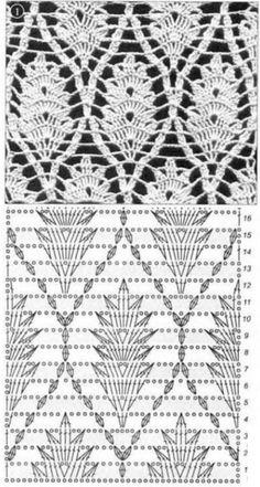 узоры с листьями -крючком - Вязание крючком для начинающих