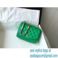 Chanel Lambskin Mixed Fibers Flap Bag AS2411 Green 2021