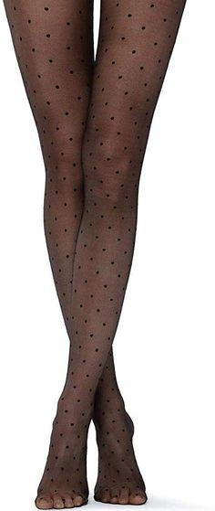 "NEW Elegant Unique Polka-Dot Patterned Women Tights Pantyhose /""Flores/"" 20 Den"