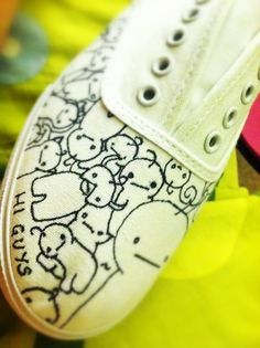 Women's Cryaotic/Sup Guy White Canvas shoes by CiNyxx on Etsy, $40.00