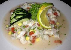 Lionfish Ceviche from La Perlita in Cozumel. Delicious!!!