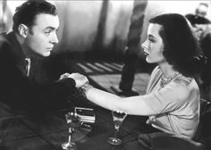 """Hedy Lamarr and Charles Boyer in """"Algiers"""" (1938)."""