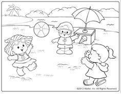 This cute coloring page will remind kids of days at the beach.