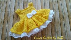 Welcome to my shop This crochet baby dress set includes a baby dress with a handmade baby headband and . This can be use for baby shower gift, christening, christmas or any special occasion. This has been made with soft acrylic yarn and I make all my items in a clean