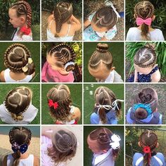 Shelley Gifford is mom from Melbourne, Australia who loves bonding with her daughter Grace as she intricately braids her hair every morning before school. Cute Girls Hairstyles, Everyday Hairstyles, Braided Hairstyles, School Hairstyles, Braided Ponytail, Updo Hairstyle, Wedding Hairstyles, Gymnastics Hair, Single Braids