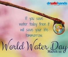 Water is the fuel which drives all living beings yet we tend to overlook to what does for us and waste it. This World Water Day Let us promise ourselves that we will Save water not just today but everyday. World Water Day, Blood Test, Relationship Issues, Save Water, Save Yourself, Medical, Let It Be, Health, Life