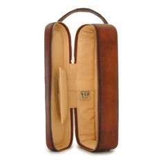 """Pratesi """"Bacco"""" leather case for a bottle of wine gift item"""