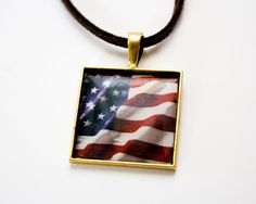 July 4th American Flag USA Photo Pendant  In by HConwayPhotography, $10.00