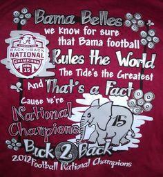Bama Belles. Alabama football Roll Tide