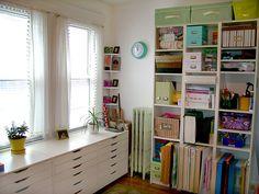 Jenn Ski's studio, using Ikea drawers