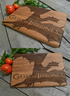 Cutting Board Game of Thrones Dinner Is Coming por CuttingBoardGift