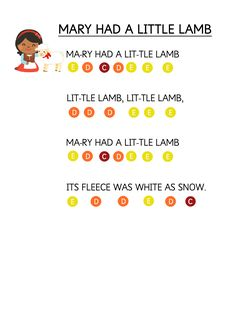 Mary Had a Little Lamb - Easy Piano Music Sheet for Toddlers. How to teach young children to play music keyboard using coloured stickers. Mary Had a Little Lamb - Easy Piano Music Sheet for Toddlers. How to teach young children to play music ke Piano Music With Letters, Easy Sheet Music, Easy Piano Sheet Music, Flute Sheet Music, Music Sheets, Piano Songs For Beginners, Piano Lessons For Kids, Kids Piano, Musik Keyboard