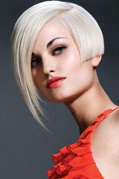 Hot Asymmetrical Bleached Blonde Bob