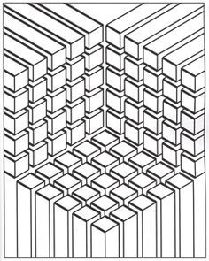 Optical Illusions Adult Coloring Pages - Enjoy Coloring - Google'da Ara