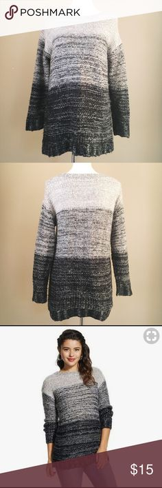 Xhilaration Grey Ombre Sweater Grey Ombre Sweater from Target's brand Xhilaration -Chunky knit -Size medium -Super soft -Looks great with leggings and riding boots Perfect for fall! Xhilaration Sweaters