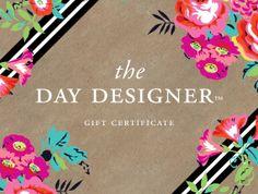 Day Designer  Gift Certificate for JANUARY 2014 by whitneyenglish, $55.00 #DayDesigner