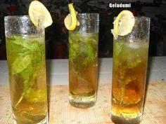 Sirop natural de menta verde - Retete in imagini - Culinar.ro Forum Voss Bottle, Water Bottle, Non Alcoholic Drinks, Mixed Drinks, Lemonade, Smoothie, Cottage, Tea, Cooking