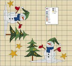 gráficos ponto cruz de natal