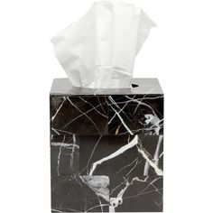Amara Rhodes Tissue Box (1,565 GTQ) ❤ liked on Polyvore featuring home, bed & bath, bath, bath accessories, fillers, black, marble bath accessories, black marble bathroom accessories, marble bathroom accessories and black bathroom accessories