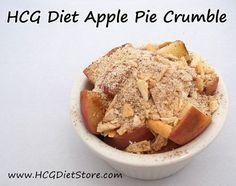 Apple Pie recipe for HCG P2!!!! Can you believe your eyes! This HCG recipe is amazing and safe for Phase 2 of the HCG Diet! http://hcgdietstore.com/