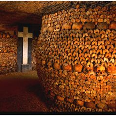 France: Paris catacombs.