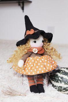 Crochet Witch Pattern Amigurumi Witch Doll Halloween Witch