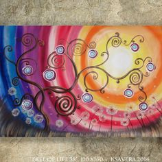 Hey, I found this really awesome Etsy listing at https://www.etsy.com/listing/200894400/acrylic-painting-rainbow-xxl-painting