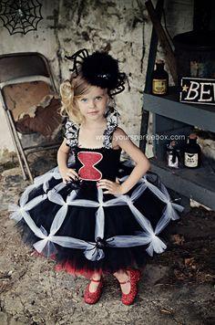 Black Widow Spider Tutu Dress by YourSparkleBox
