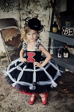 Black Widow Spider Tutu Dress by YourSparkleBox