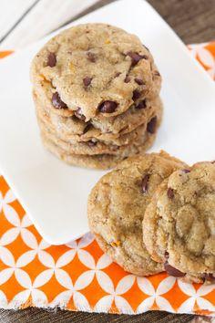gluten free vegan orange chocolate chip cookies