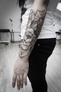 arm, flowers, sleeve, tattoo