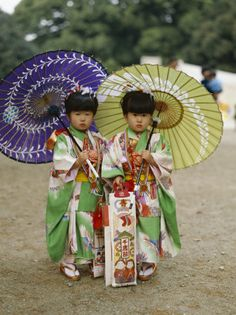 Shichi-go-san (7-5-3) festival. They have their chitose ame (1000 year) candy to bring them long life. They are so cute!