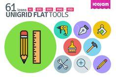 UniGrid Flat Tools by Icojam on Creative Market