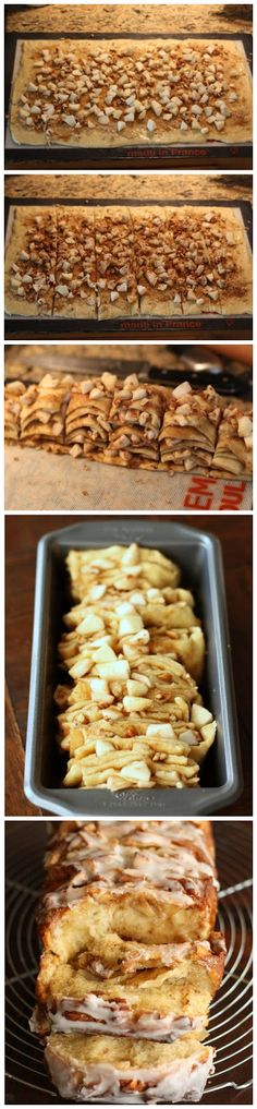 Apple Cinnamon Pull-Apart Bread I'm always looking for interesting items for a weekend brunch and although I'm not much of a baker, I could ...