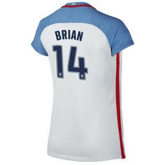 2016/17 USA (#14) Morgan Brian Home Women's Soccer Jersey