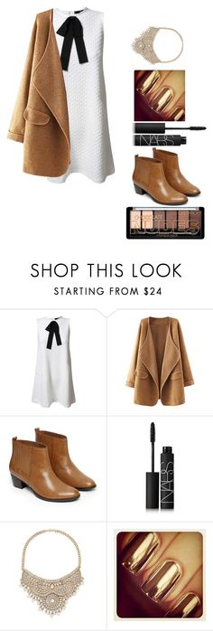 """""""Untitled #320"""" by estexime ❤ liked on Polyvore featuring TFNC, Warehouse, NARS Cosmetics and Bebe"""