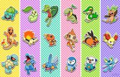 Pokemon Starters by Red-Flare.deviantart.com on @deviantART