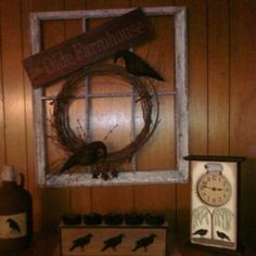 My primitive window made by Kay Hintin