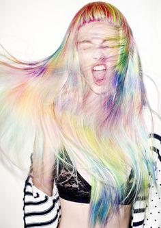 Life is too short to have boring hair 😉🌈 Stevie English Visto en Es. Hair Art, My Hair, Pelo Multicolor, Blond, Multicolored Hair, Colorful Hair, Corte Y Color, Fantasy Hair, Creative Hairstyles