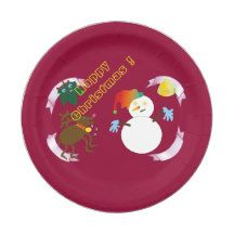 Happy Christmas ! (2015) 7 Inch Paper Plate