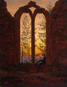 Friedrich, Les ruines du cloître d'Oybin