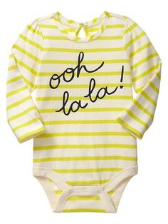 Naturally, Baby Sterling owns this already. Gap Keyhole Bodysuit  / Baby  @Gap