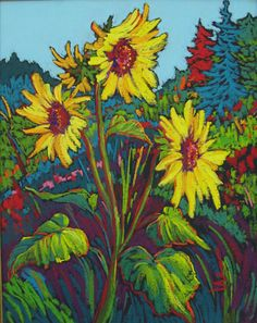 Smiles of Sunshine by Sara Chambers Pastel ~ 20 x 16