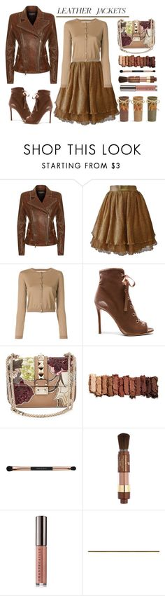 """""""Untitled #943"""" by m-jelic ❤ liked on Polyvore featuring Balmain, Ella Singh, RED Valentino, Gianvito Rossi, Valentino, Urban Decay, Lancôme and Chantecaille"""