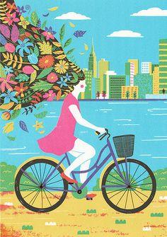 Bicicleta Limited Edition por boyounkim en Etsy