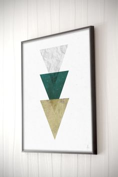 Triangles print Geometric poster Abstract art door Emblematical