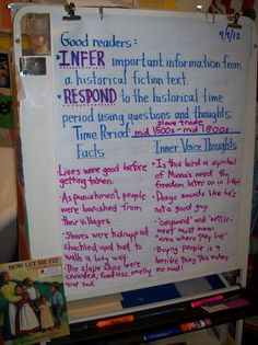 historical fiction anchor charts | ... tab of their Thoughtful Logs since the text was historical fiction